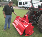 how to use a 10 series rotary tiller