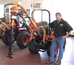 Post Hole Digger For Compact and Subcompact Tractors