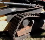 Solideal replacement track for skid steers