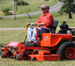 Dennis Setzer and his Bad Boy Mower